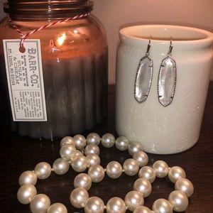 Kendra Scott Ivory Mother of Pearl Drop Earrings
